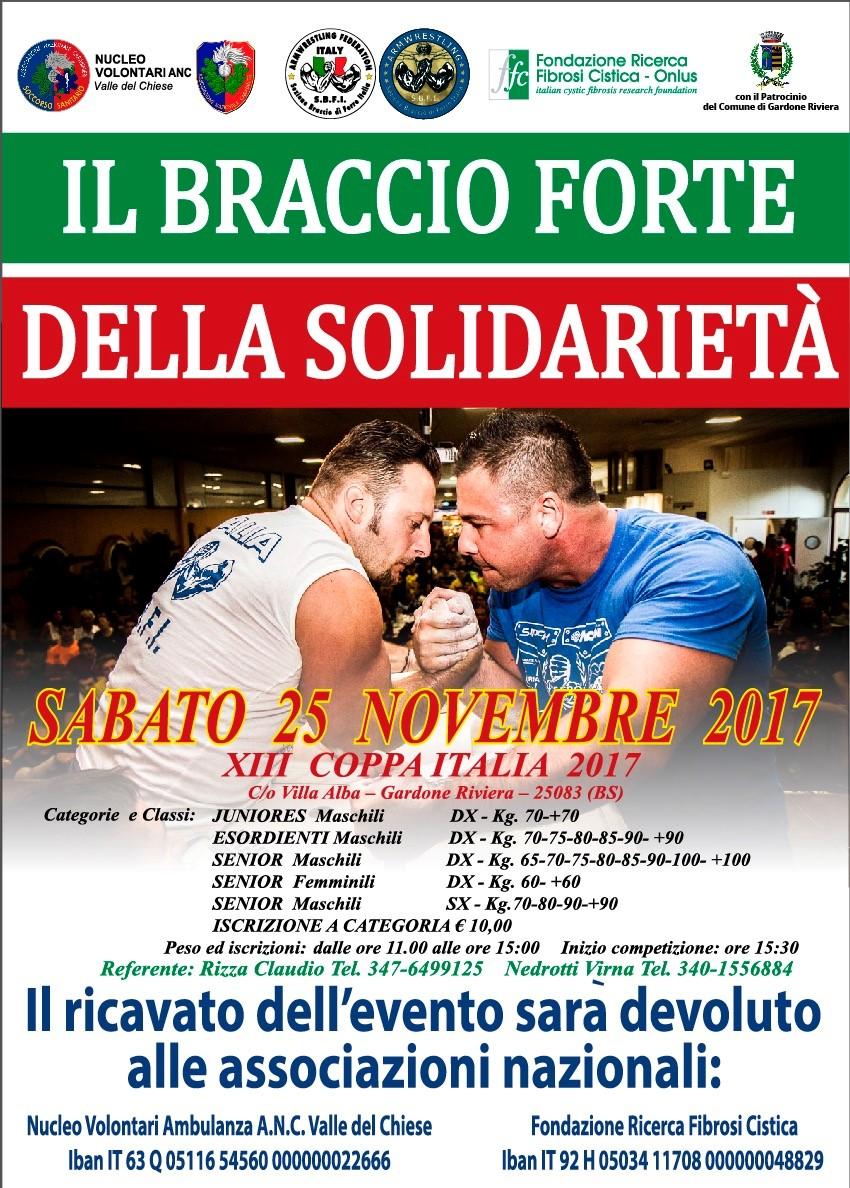 XIII Coppa Italia: il Braccio forte della solidarietà