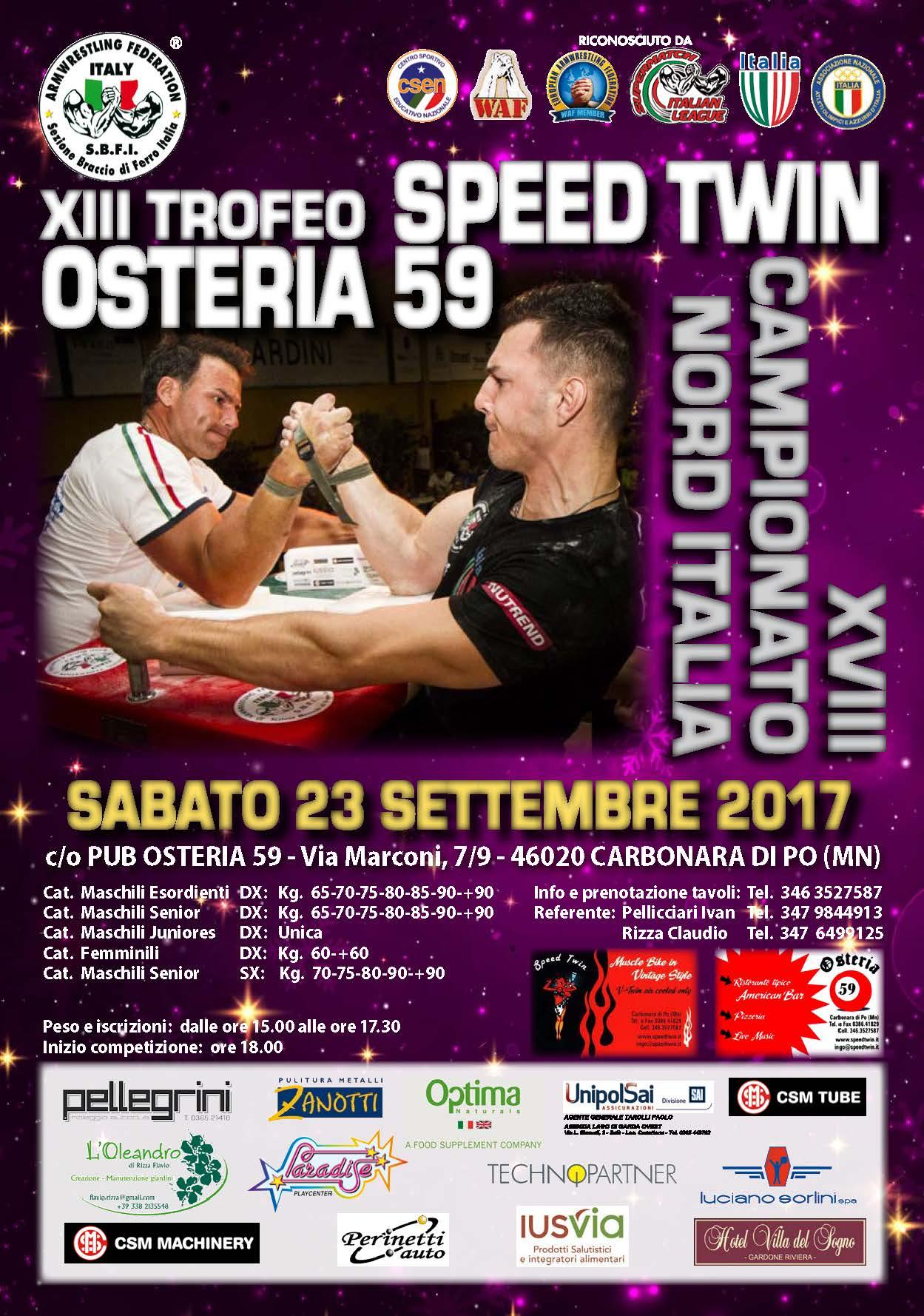 Campionato Nord Italia 2017