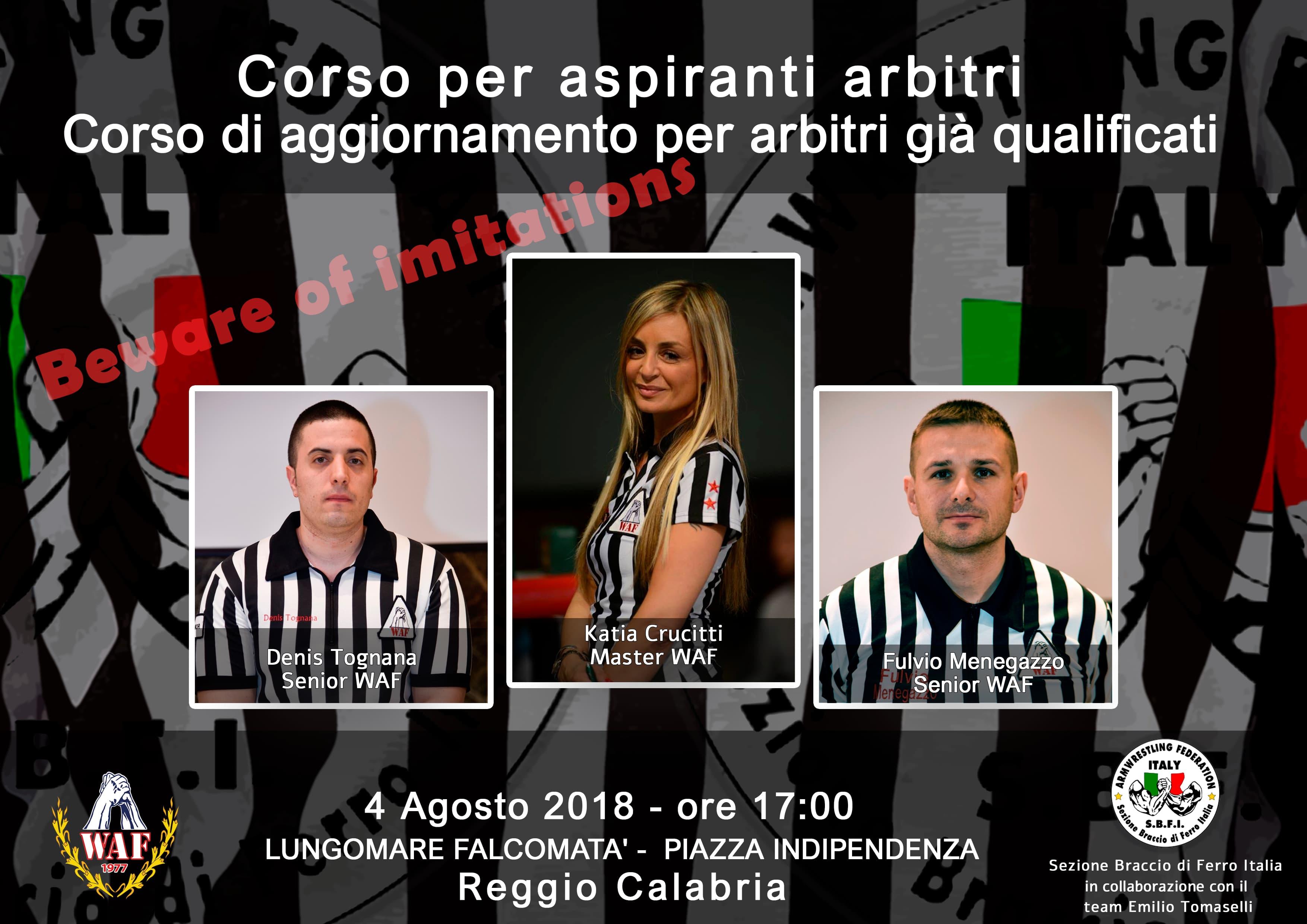 Reggio Calabria, 4 Agosto 2018 – Corso Arbitri