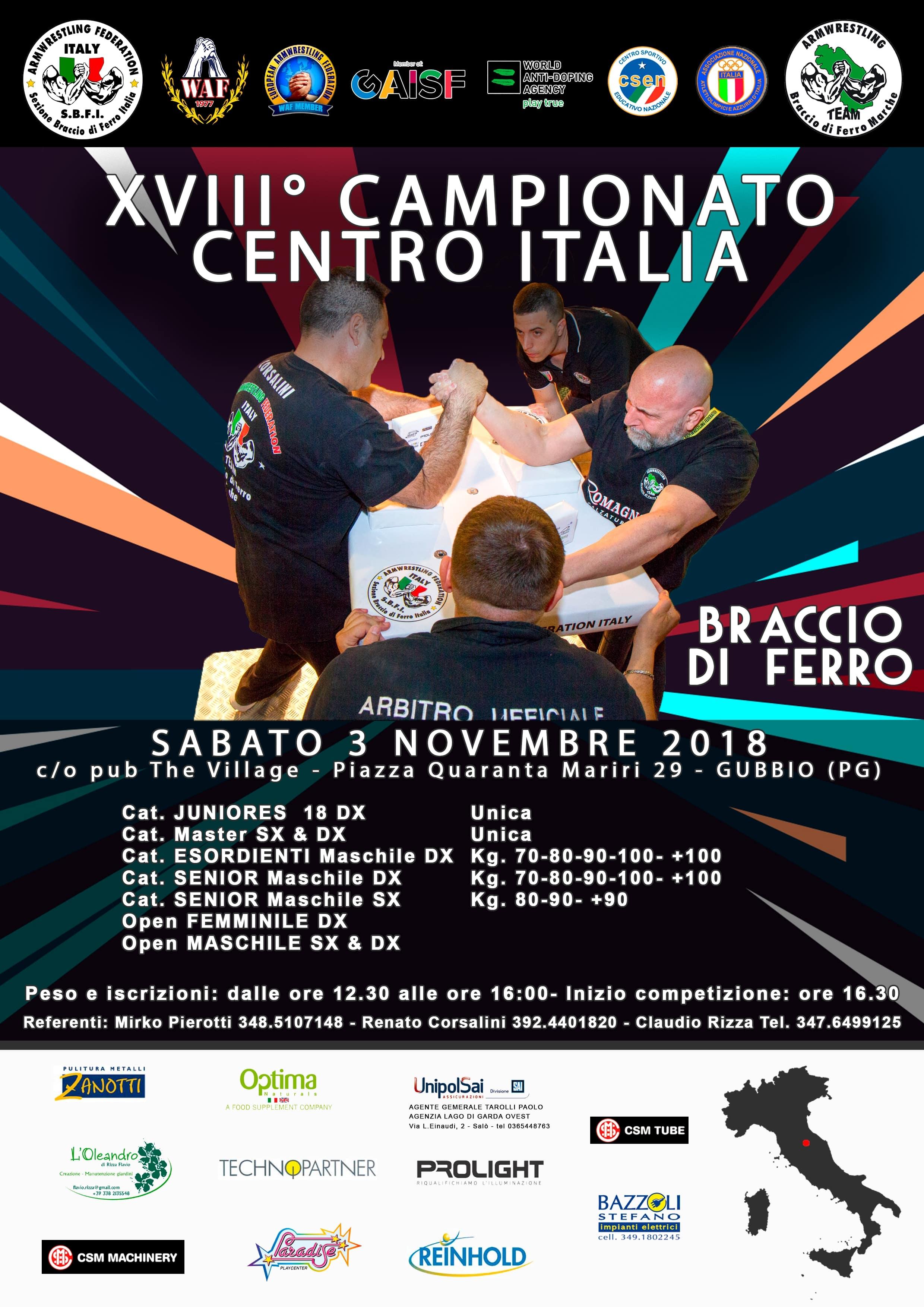 SBFI - Sezione Braccio di Ferro Italia - XVIII Campionato centro Italia