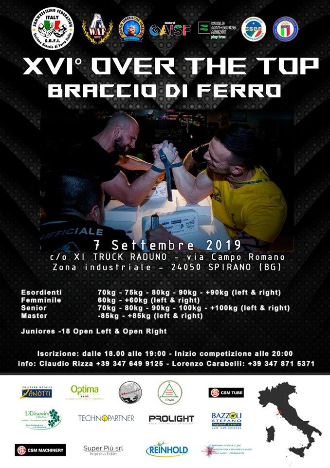 SBFI - Sezione Braccio di Ferro Italia - XVI Trofeo Over the Top