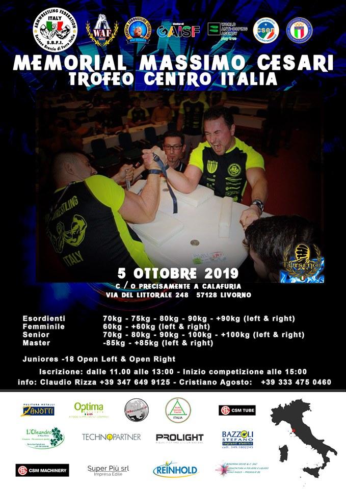SBFI - Sezione Braccio di Ferro Italia - Campionato Centro Italia 2019 Memorial Massimo Cesari