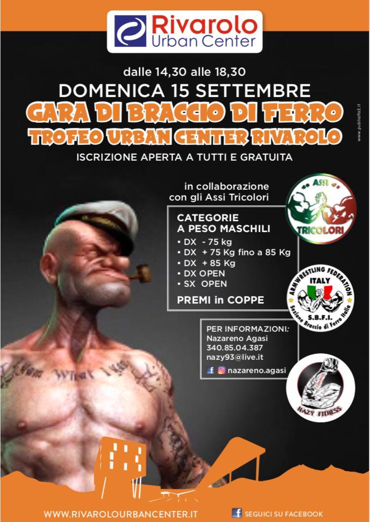 SBFI - Sezione Braccio di Ferro Italia - Trofeo Urban Center Rivarolo 2019