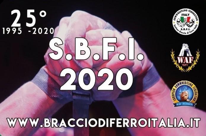 SBFI - Sezione Braccio di Ferro Italia - Tessera 2020 - 25° Anniversario