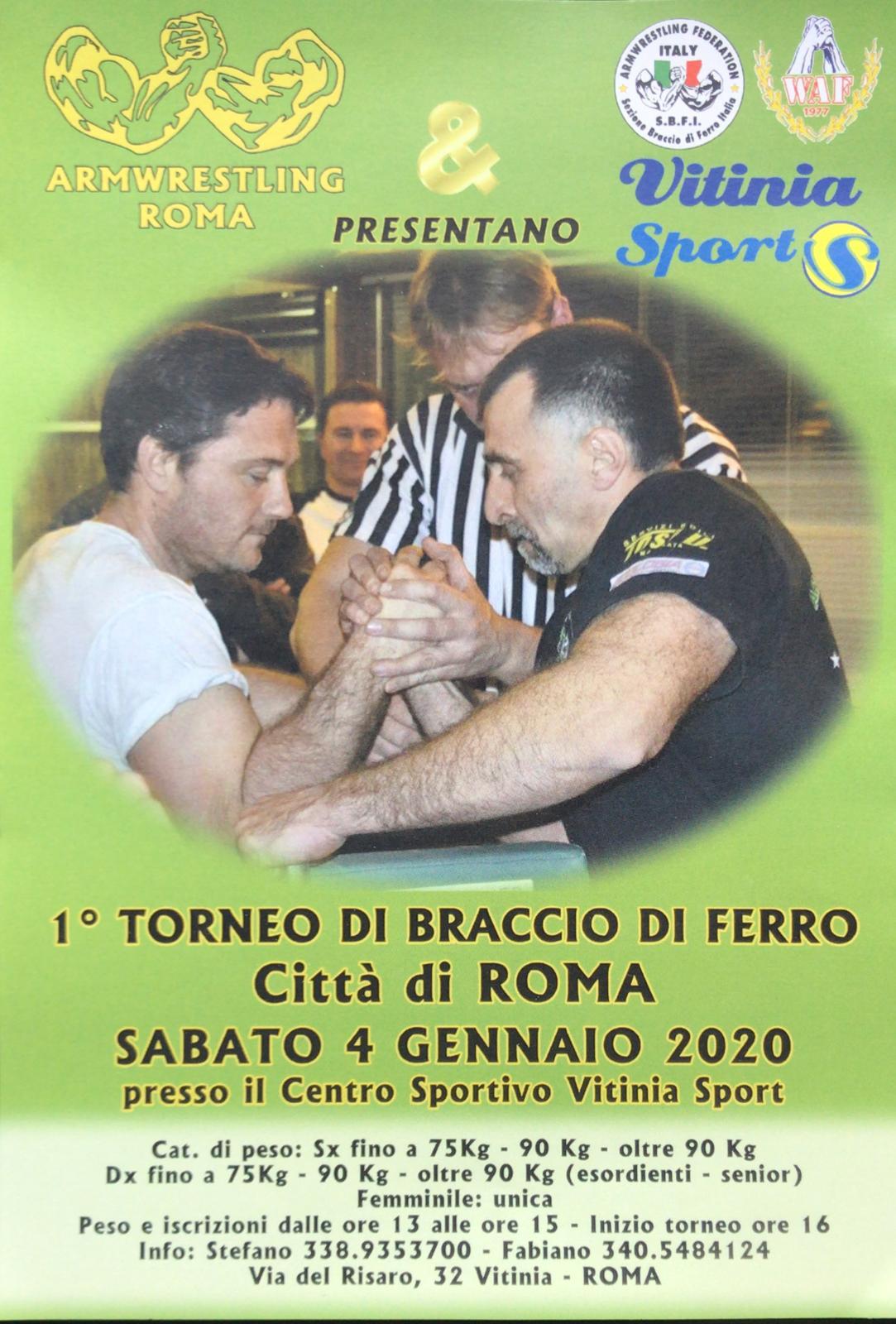 SBFI - Sezione Braccio di Ferro Italia - I Torneo citta di Roma