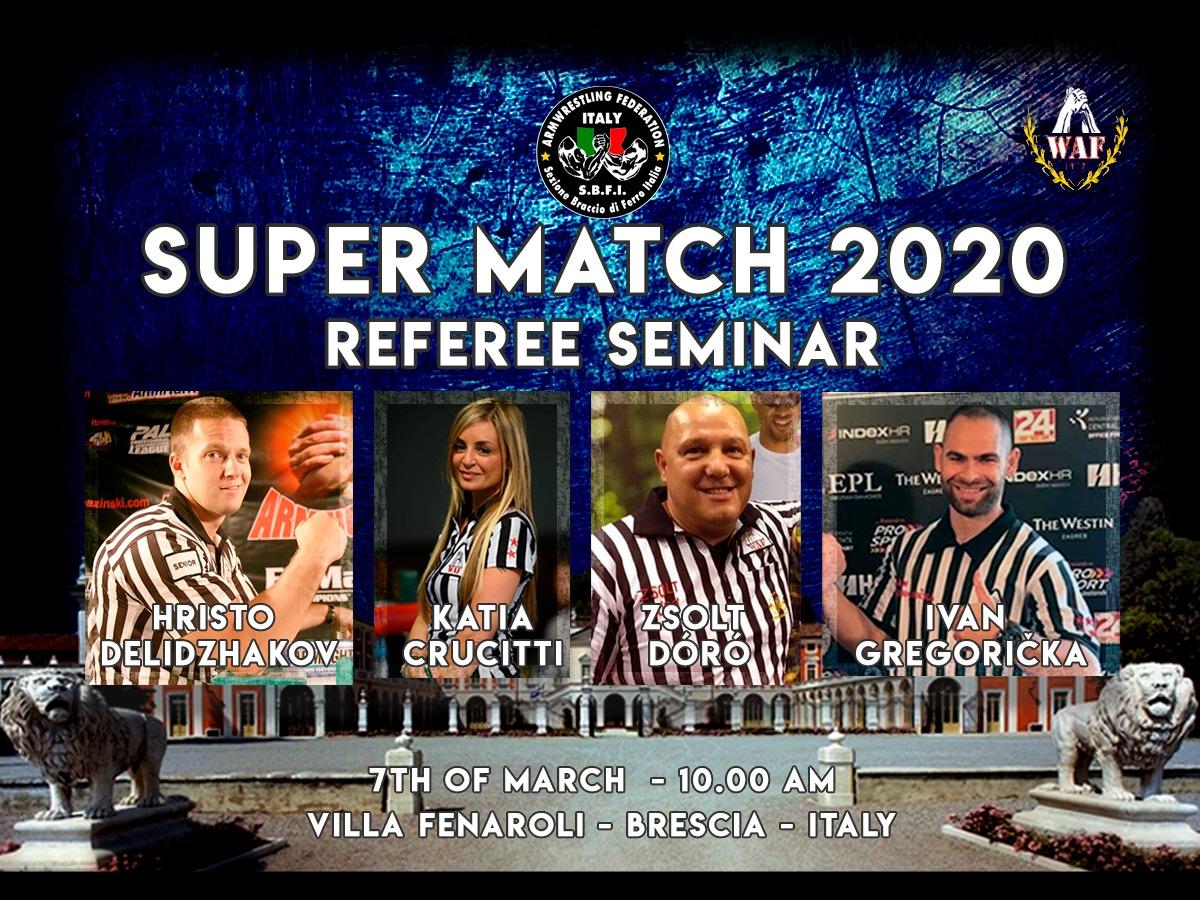 SBFI - Sezione Braccio di Ferro Italia - Super Match 2020 Referee Seminar