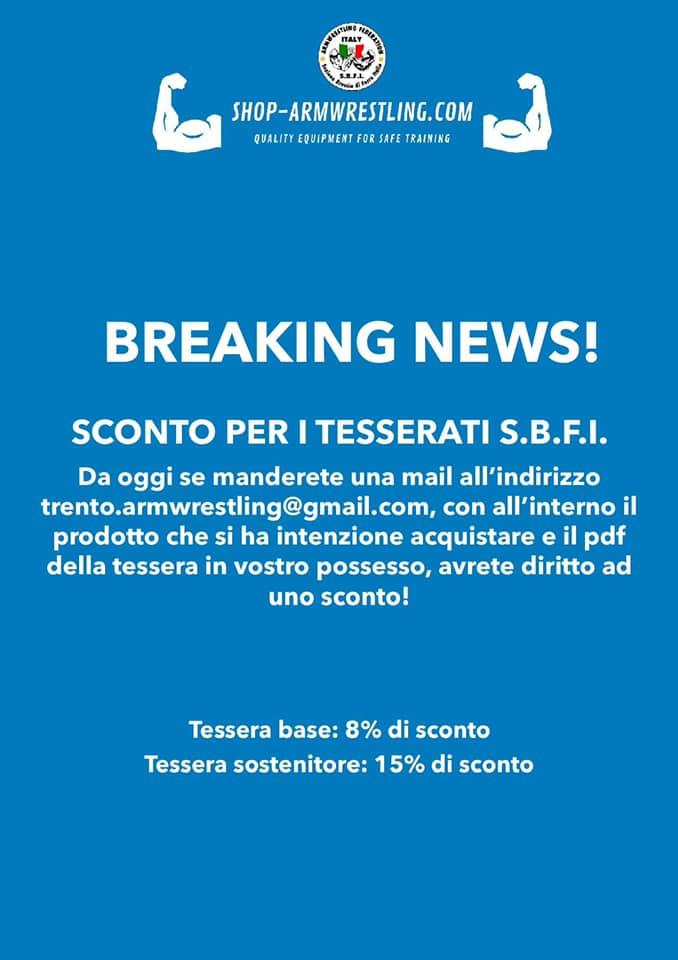 SBFI - Sezione Braccio di Ferro Italia - Armwrestling shop
