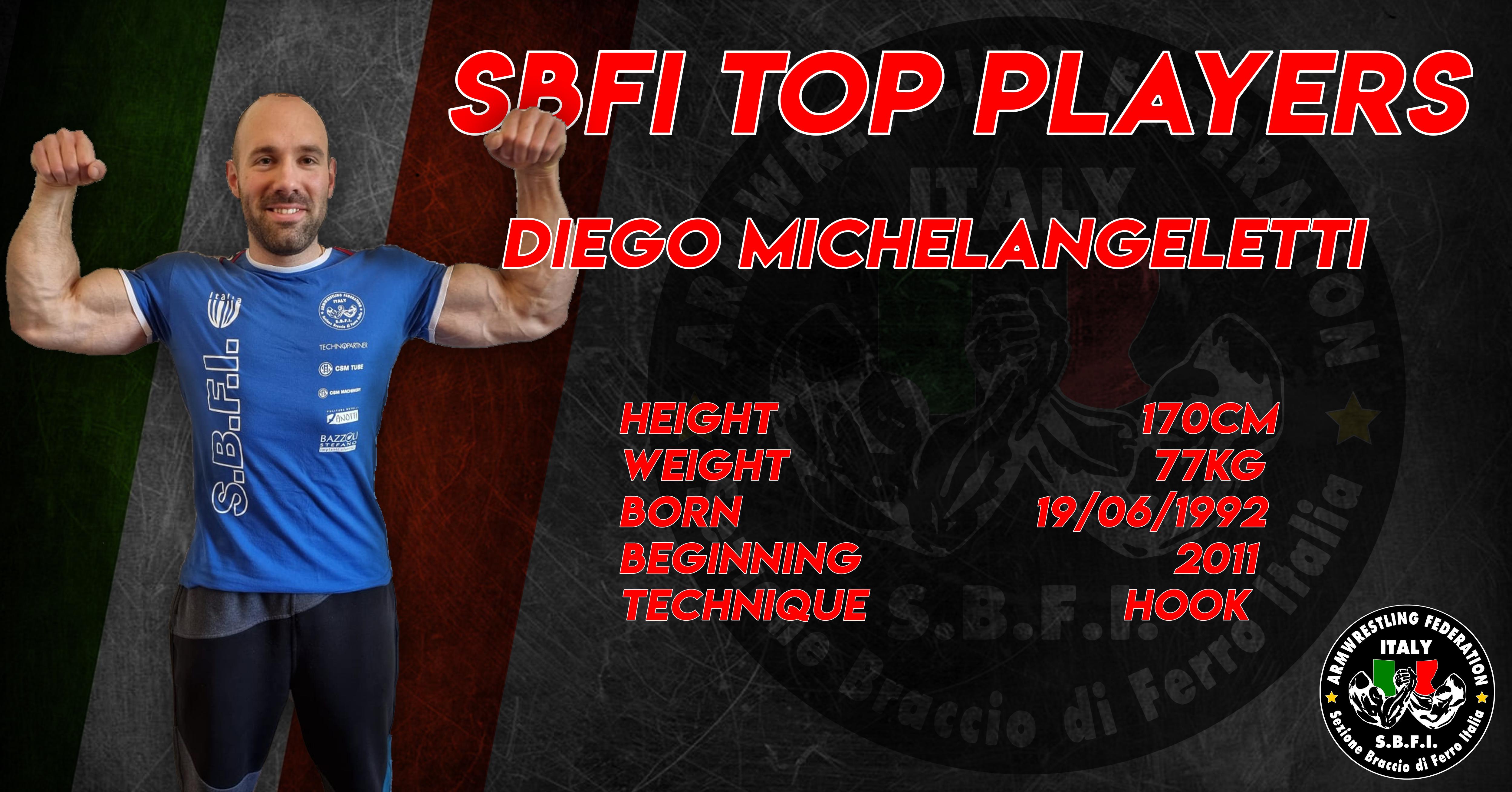 SBFI - Sezione Braccio di Ferro Italia - Top Players Diego Michelangeletti