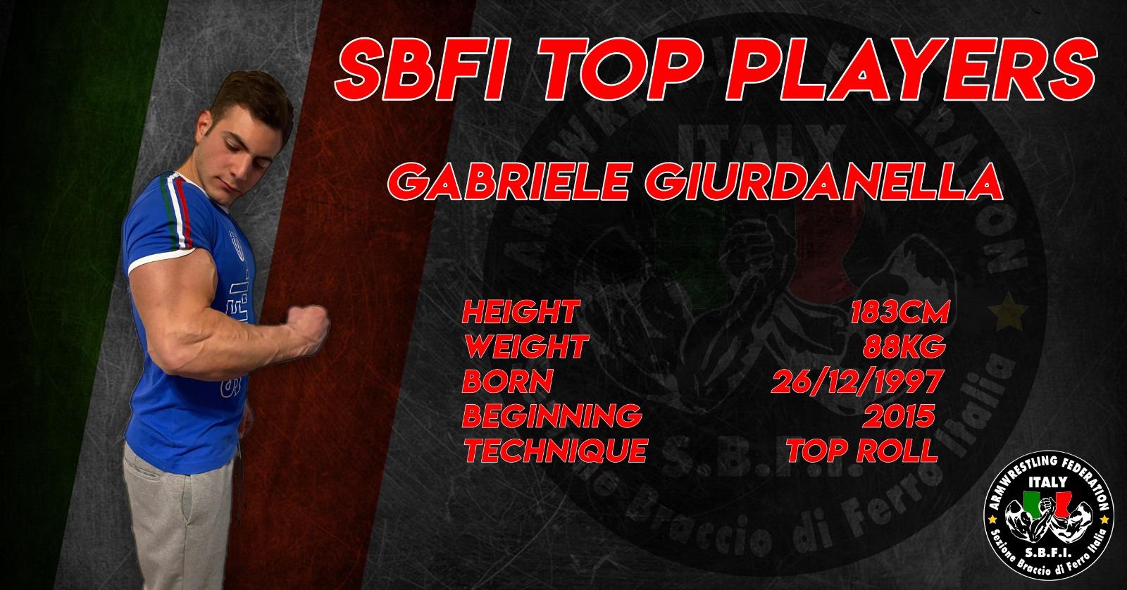 SBFI - Sezione Braccio di Ferro Italia - Top Players Gabriele Giurdanella
