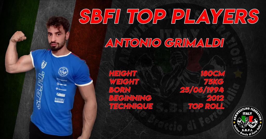 SBFI - Sezione Braccio di Ferro Italia - Top Players Antonio Grimaldi
