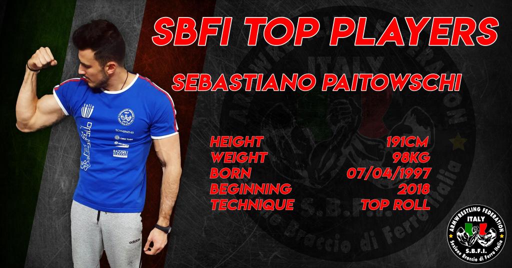 SBFI - Sezione Braccio di Ferro Italia - Top Players Sebastiano Paitowschi
