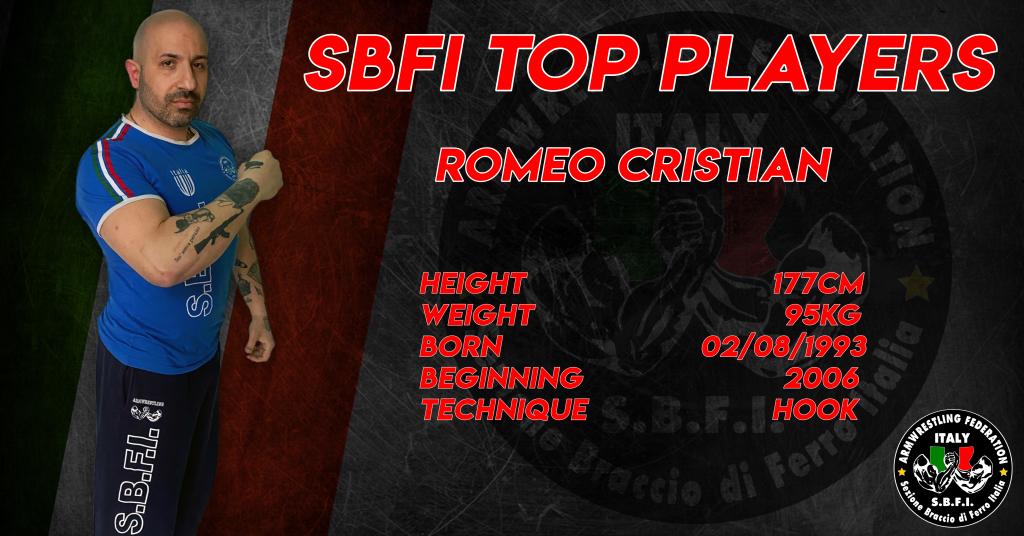 SBFI - Sezione Braccio di Ferro Italia - Top Players Cristian Romeo