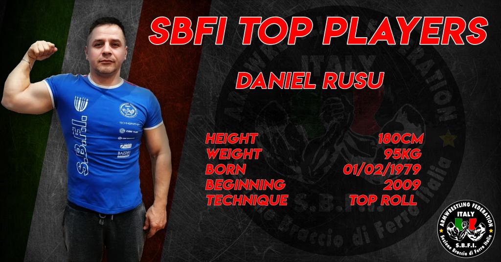 SBFI - Sezione Braccio di Ferro Italia - Top Players Daniel Rusu
