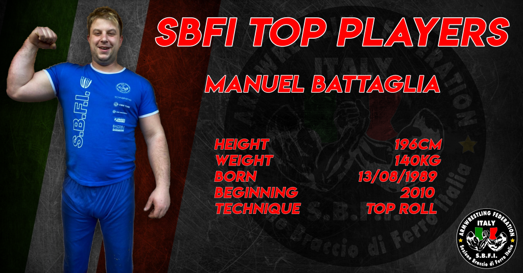 SBFI - Sezione Braccio di Ferro Italia - Top Players Manuel Battaglia