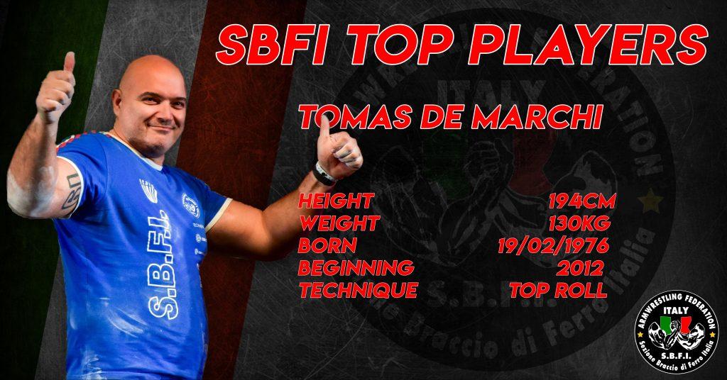 SBFI - Sezione Braccio di Ferro Italia - Top Players Tomas De Marchi