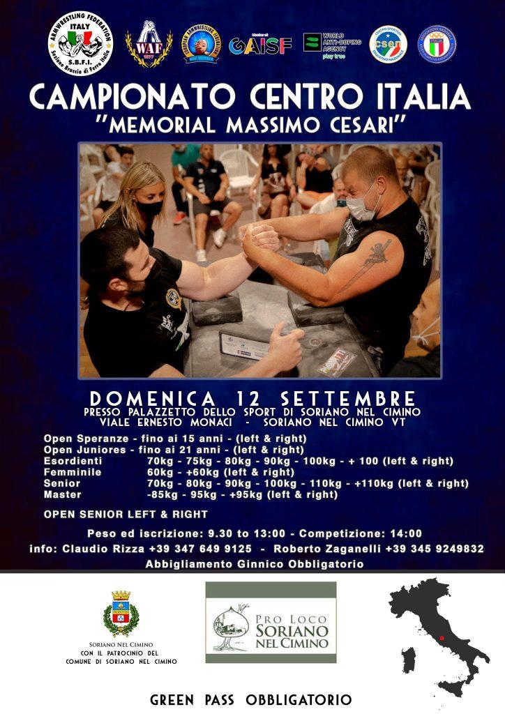 SBFI - Sezione Braccio di Ferro Italia - Campionato Centro Italia 2021 Memorial Massimo Cesari