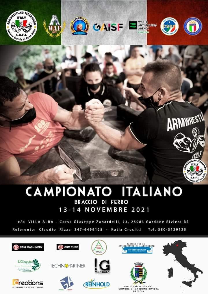 SBFI - Sezione Braccio di Ferro Italia - Campionato Italiano 20216